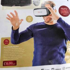 Virtual Reality Headset - £16.99 with 3 years warranty instore at ALDI