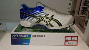 Asics cricket shoes Gel Gully 4 RRP £95 now only £12 @ Asics - Wembley Asics outlet store