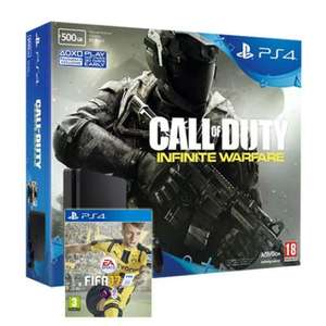 PS4 Slim 500GB Console + Call of Duty: Infinite Warfare Bundle + FIFA 17 £199 / PS4 500GB Slim Console + Call of Duty: Infinite Warfare £189 @ ebay / shopto