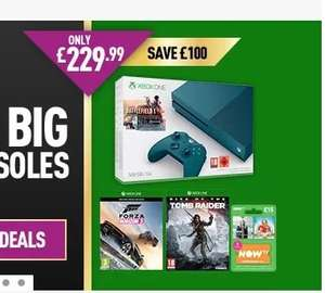 Xbox One S Battlefield 1 or FIFA Bundle (Grey/Blue 500GB) with Forza Horizon 3 + Tomb Raider and NOW TV 2 Month Pass £229 @ Game