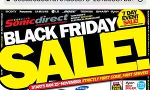 MEGA BLACK FRIDAY SALE - Sonic Direct - starts 8am (25/11)