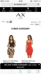AX Paris upto 50% off selected clothing using code BLACK50