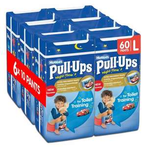 Huggies Pull Ups Large packs 60 for £12 @Amazon