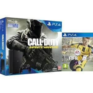 500gb slim ps4 with fifa 17 and Call of duty infinite war £219.99 @ GeekyBox