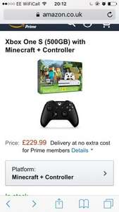 Xbox Minecraft Bundle With Extra Controller £229.99 @ Amazon