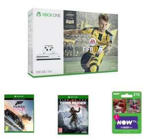 Xbox One S + Fifa 17 Bundle with Forza Horizon 3, Tomb Raider and a NOW TV Sky Cinema Pass @GAME