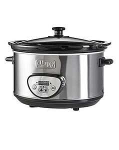£17.50 JDW Digital Stainless steel slow cooker at JD Williams