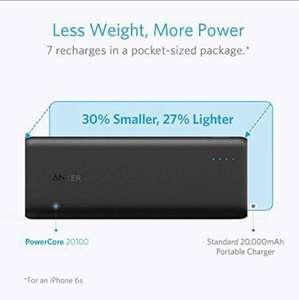 Anker PowerCore 20100 - Ultra High Capacity Power Bank with 4.8A Output £21.45 @ aliexpress