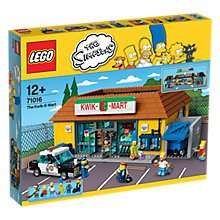 lego simpsons Kwik E Mart at John Lewis for £137