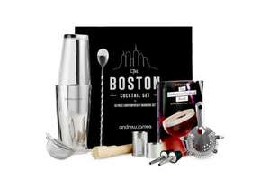 Luxury 10 piece Boston cocktail set was £29.99 now £16.39 delivered save 44% @ Andrew James