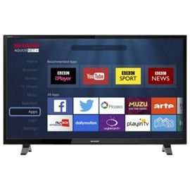 Sharp LC-49CFG6001K Smart Full HD 49 Inch LED TV with Freeview HD finally £199 at Tesco Direct for £199