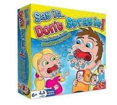 say it don't spray it ( speak out game) instore at Watt Brothers for £9.99