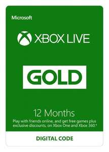 Xbox LIVE 12 Month Gold Membership Standard - £24.99 (Possibly £22.49) - Amazon (FIFA DLC/GoW DLC and EA Access Bundles Available)