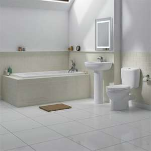 Melbourne 1700 Bathroom Suite £169.94 @Victorian plumbing