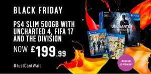 PS4 Slim 500GB, Uncharted Bundle, Fifa 17 & The Division @ Argos