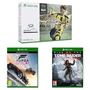 Xbox One S 500GB With FIFA 17 + Forza Horizon 3 + Rise of Tomb Raider £229.99 @ Amazon