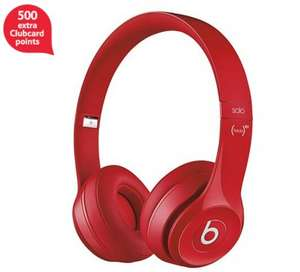 Beats Solo 2 + 500 clubcard points | Red, White, Pink, Blue and Grey £69 Tesco