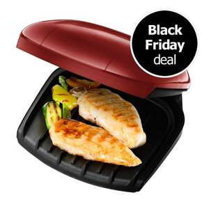 George Foreman 2 Portion Grill Red 18841 & Cream 18842 £9.95 @ Wilko  free c&c black friday deal