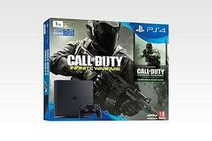 PS4 Slim 1TB Call of Duty Infinite Warfare Console Bundle Black (D Chassis) £229 @ Tesco direct