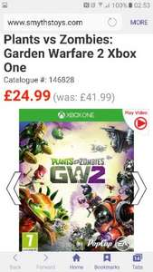 plants vs zombies garden warfare 2  £24.99 @ Smyths toys