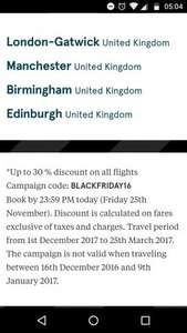 Black Friday Norwegian Airlines 30/30% off flights eg New York £280.10 @ Norweigan