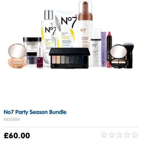 no 7 party bundle £60 @ boots