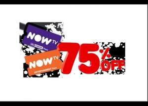 Now TV Black Friday75% off TV passes