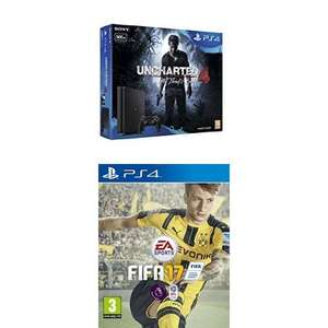 DUPE PS4 Slim 500GB + FIFA17 + Uncharted 4 - £199 - Amazon