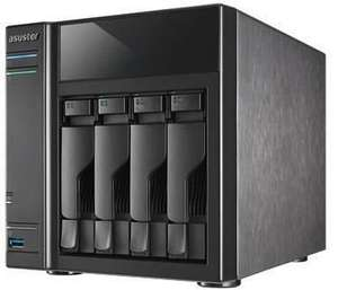 Asustor AS-304T 4 Bay Desktop Network Attached Storage - Diskless NAS - HDMI - Runs KODI. £129.99 @ Box