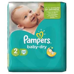 Pampers Baby Dry Nappies Nappies  Size 2 (Mini), 33 Nappies @ AmazonFresh