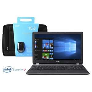 "Acer ES1-571 15.6"" Intel Core i3 8GB RAM 2TB HDD Laptop Bundle with Mouse, Bag and McAfee Internet Security 2016- £299 Tesco Exclusive"