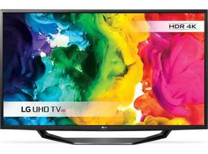 "LG 49UH620V Smart 4k Ultra HD HDR 49"" LED TV 3x HDMI Freeview Freesat HD for £419 delivered at Currys (+7.7% Topcashback ~£386)"