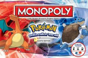 Pokémon Monopoly Kanto Edition £16.99 + £1.99 postage at Groupon (£10 back at Topcashback making it £8.98)