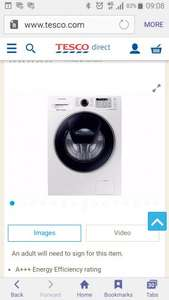 Samsung WW80K5413UW/EU 8KG AddWash washing machine @ £399 on Tesco