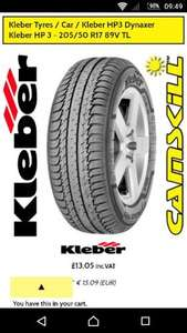 EXPIRED Kleber car tyre 205 50 R17 £20.03 delivered from camskill