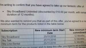 normal Sky Broadband and Calls  - £10/month (existing customers)