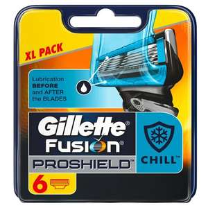 Gilette fusion cool proshield - 6 blades - £4.44 @ amazon - subscribe and save only - follow instructions! (Original proshield ones for £2.34!)