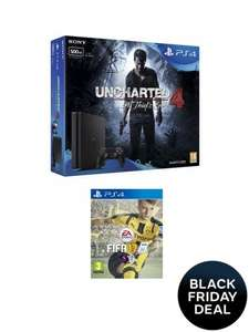 Ps4 500gb slim with Uncharted 4 plus fifa 17 £179.99 with code (Credit account) free collect + pick up@ very