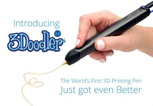 3Doodler 3D-printing pen V2.0 with starter pack of 50 strands of plastic