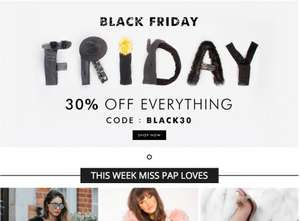 30% OFF Miss Pap for Black Friday