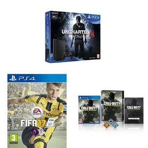 Sony PlayStation 4 Slim 500GB Uncharted 4 Bundle + FIFA 17 + Call Of Duty: Infinite Warfare @ Amazon