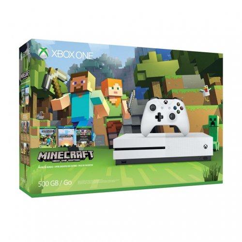 Xbox One S 500GB Minecraft Bundle @ £199.99 smyths toys