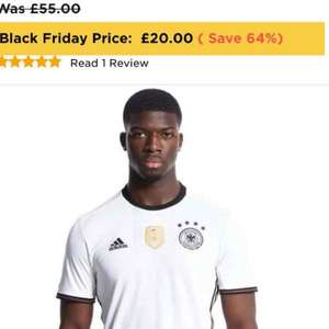 Adidas Germany 2016 Home Shirt Was £55.00 now £20 at JD Sports