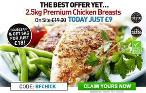 Muscle Food 2.5KG Chicken Breasts for £9 (£3.60 per kg) £25 min spend + £3.95 Delivery