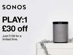SONOS PLAY:1 - £135.02 with code @ electricshopping.com