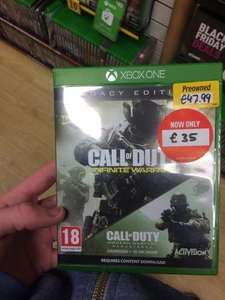 Call Of Duty Infinite Warfare Legacy Edition INCLUDES MW REMASTERED Xbox One £35 @ Game Instore