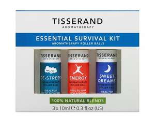 Tisserand Essential survival kit for £7.30 (Prime) / £11.29 (non Prime) @ Amazon