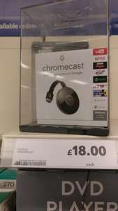 Chromecast 2 at Tesco Black Friday deal for £18 instore and online