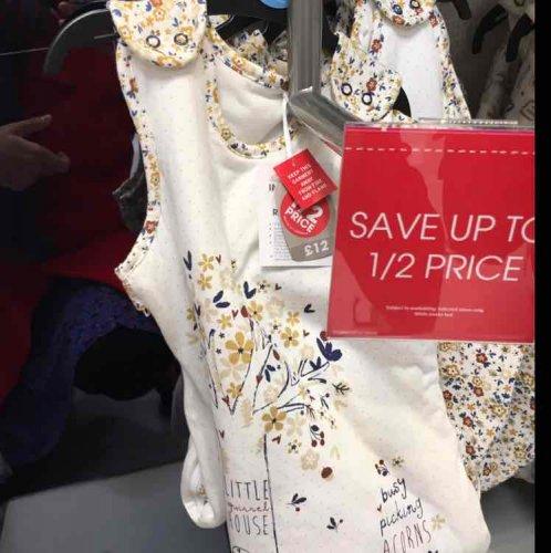 baby sleeping bag half price at Sainsbury's instore - £6