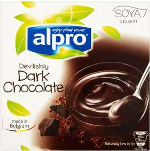 Alpro Soya Low Fat Dairy Free Dessert (Vanilla / Caramel / Dark Chocolate) (4 x 125g) was £1.50 each now 3 for £3.00 Mix and Match available) @ Asda